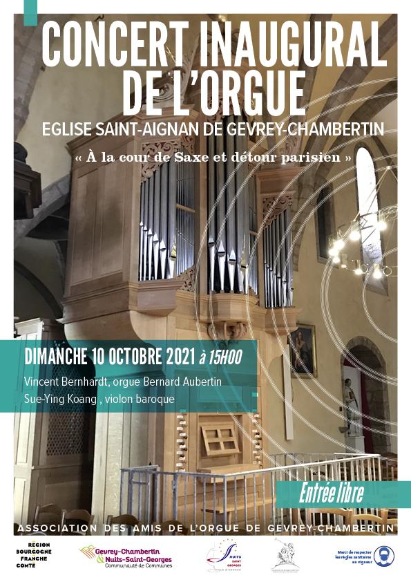 Concert inaugural de l'Orgue
