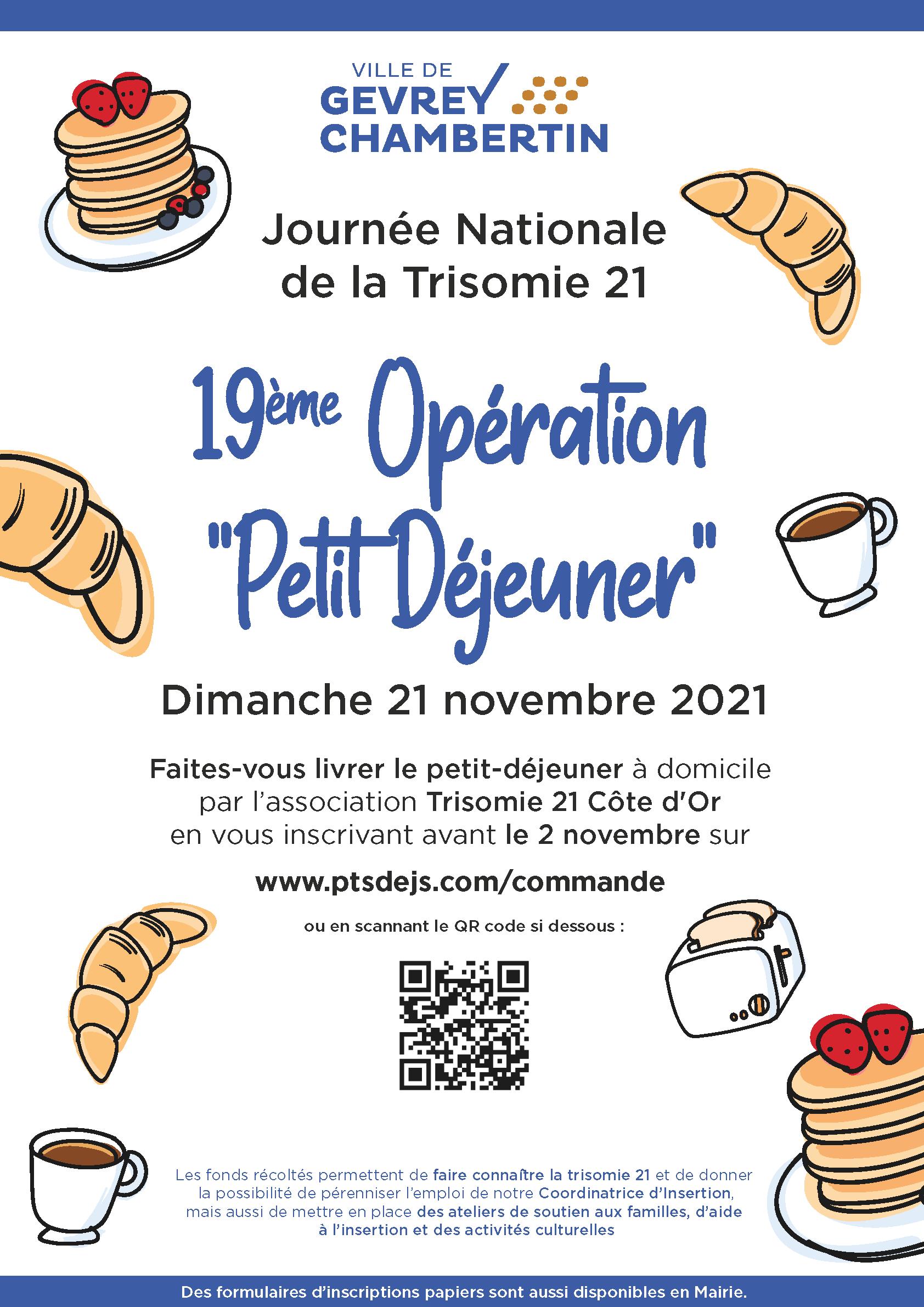 """19ème Opération """"Petit Déjeuner"""" – Trisomie 21"""